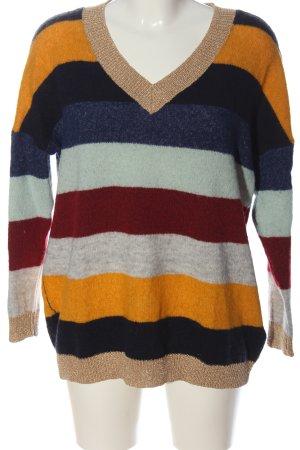 Only V-Ausschnitt-Pullover meliert Casual-Look