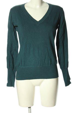 Only V-Ausschnitt-Pullover grün Casual-Look