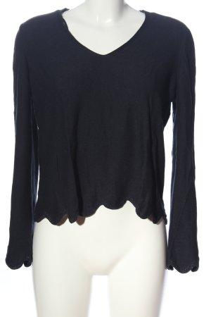 Only V-Ausschnitt-Pullover schwarz Casual-Look