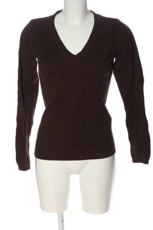 Only V-Ausschnitt-Pullover braun Casual-Look