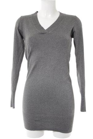 Only V-Ausschnitt-Pullover grau