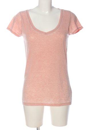 Only V-Ausschnitt-Shirt pink meliert Casual-Look