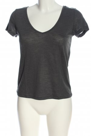 Only V-Ausschnitt-Shirt hellgrau Casual-Look