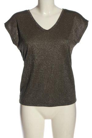 Only V-Ausschnitt-Shirt braun Casual-Look