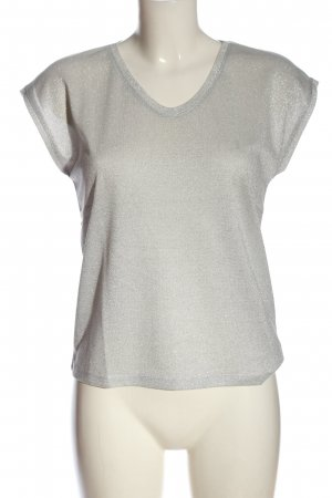 Only V-Neck Shirt silver-colored casual look