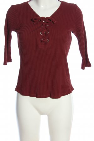 Only Geribd shirt rood casual uitstraling