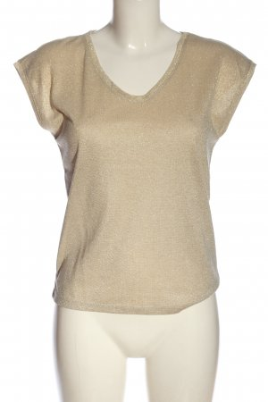 Only V-Neck Shirt gold-colored flecked casual look