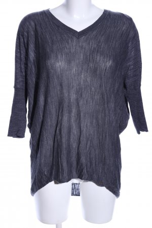 Only V-Ausschnitt-Shirt hellgrau meliert Casual-Look