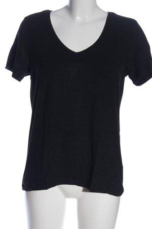 Only V-Ausschnitt-Shirt schwarz Casual-Look
