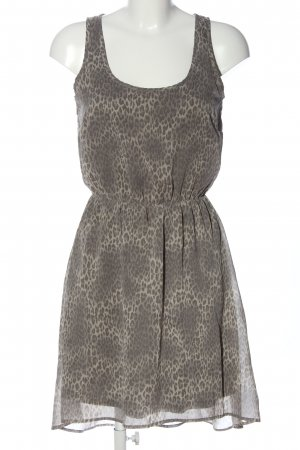 Only High Low Dress light grey-cream leopard pattern casual look