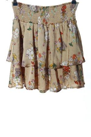 Only Spódnica z falbanami brązowy Na całej powierzchni W stylu casual