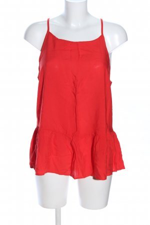 Only Volanten top rood casual uitstraling