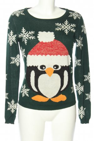Only Christmasjumper themed print casual look