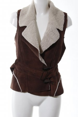 Only Reversible Vest brown-natural white casual look