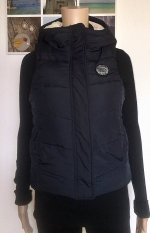 Only Capuchon vest donkerblauw-room