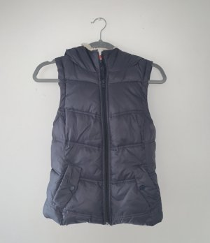 Only Hooded Vest steel blue