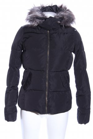 Only Winterjacke schwarz Steppmuster Casual-Look