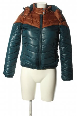 Only Kurtka zimowa niebieski-brązowy Pikowany wzór W stylu casual