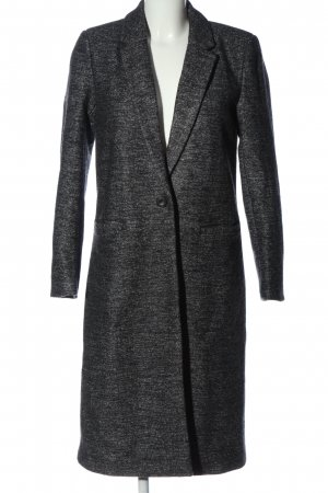 Only Winter Coat black-light grey flecked casual look