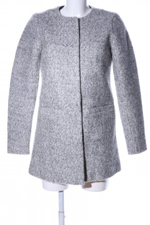 Only Abrigo de lana gris claro moteado estilo «business»