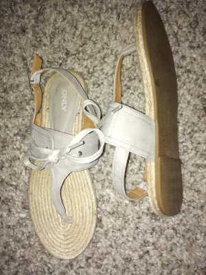 Only Sandalo toe-post crema-beige chiaro