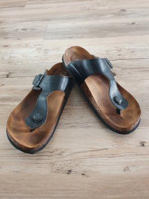 Only Sandalo toe-post nero