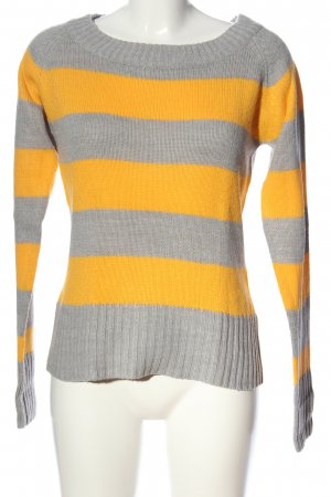 Only Jersey trenzado gris claro-naranja claro moteado look casual