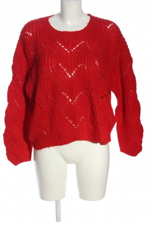 Only Zopfpullover rot Casual-Look