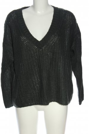 Only Zopfpullover schwarz Casual-Look