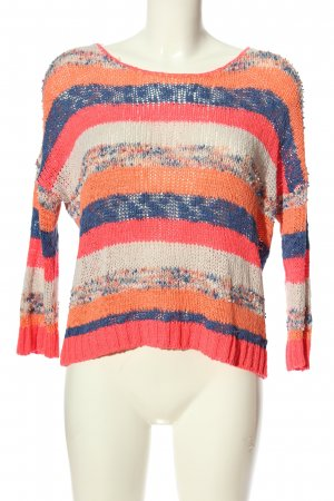 Only Cable Sweater striped pattern casual look