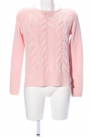 Only Zopfpullover pink Zopfmuster Casual-Look