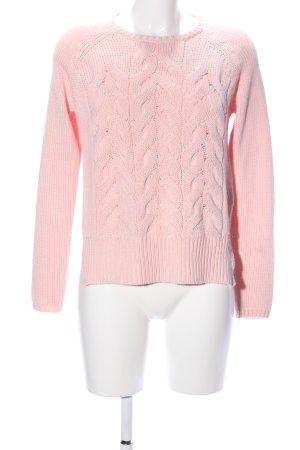 Only Maglione intrecciato rosa punto treccia stile casual