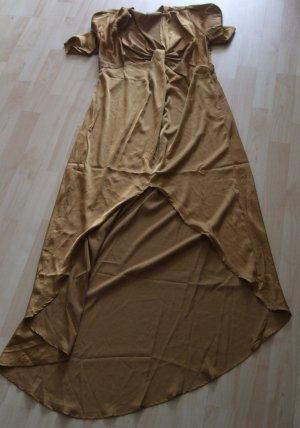 ONTWELFTH Szyfonowa sukienka ochra