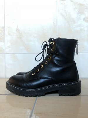 Onygo Combat Boots black-silver-colored