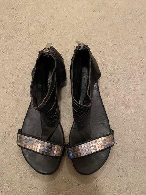 Onygo echt Leder Sandalen Gr. 38 flache Schuhe für den Sommer