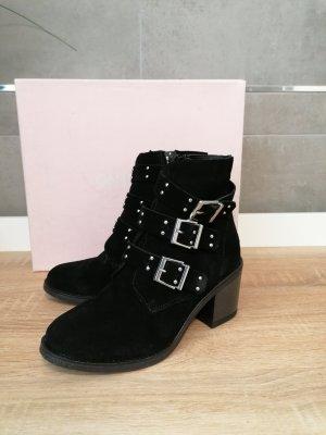 onygo Leder Boots Stiefelette schwarz 36