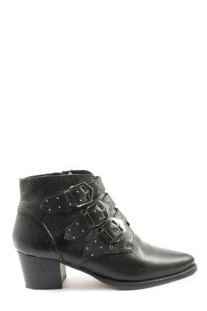 Onygo Reißverschluss-Stiefeletten schwarz Casual-Look