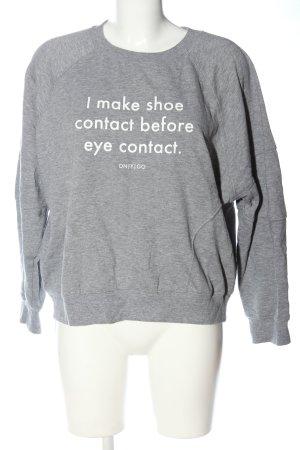 Onygo Sweatshirt gris clair-blanc moucheté style décontracté