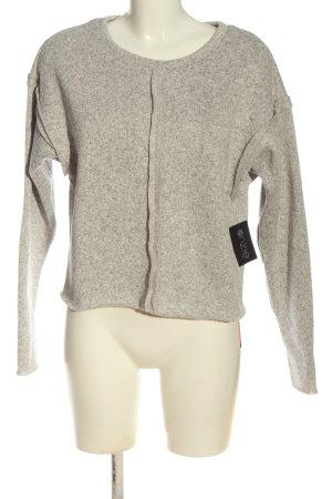 Onzie Pullover a maglia grossa grigio chiaro puntinato stile casual