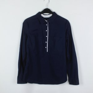 Oodji Bluse Gr. 42 dunkelblau/weiß