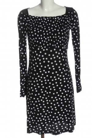 oodji Longsleeve Dress black-white flecked casual look