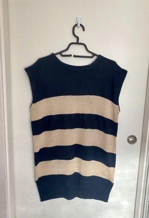 oodji Fine Knitted Cardigan oatmeal-dark blue