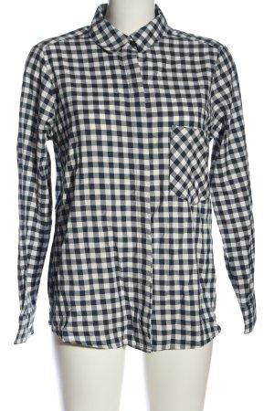 oodji ultra Camicia da boscaiolo nero-bianco stampa integrale stile casual