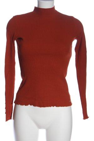 oodji ultra Ribbed Shirt red casual look