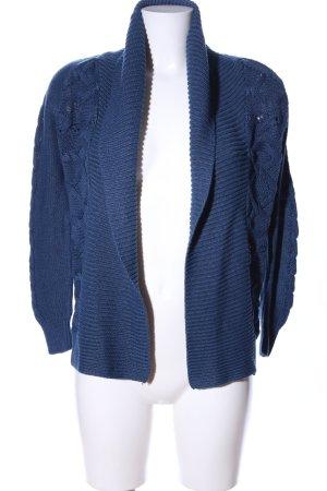 oodji ultra Strick Cardigan blau Zopfmuster Casual-Look