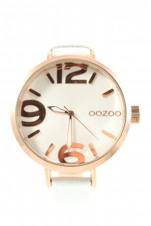 Oozoo Analog Watch white-pink business style
