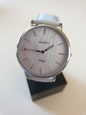 Oozoo Damen Digital Quarz Uhr mit Lederarmband, C7767, mint, Perlmutt