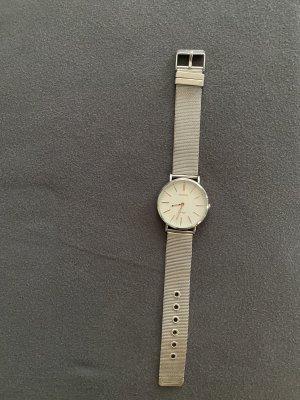 Oozoo Horloge met metalen riempje zilver