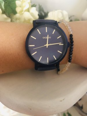 Oozoo Watch With Leather Strap multicolored