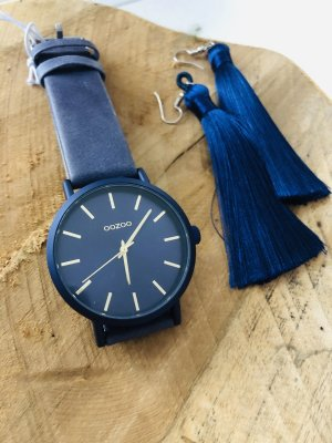 Oozoo Watch With Leather Strap blue-dark blue